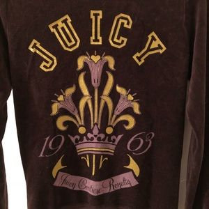 Juicy Couture Brown Velour Hooded Jacket S